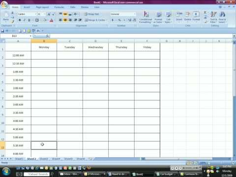 Time Management with Excel