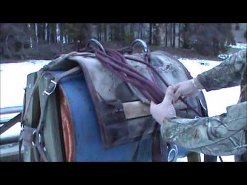 How to put ropes up on a decker pack saddle