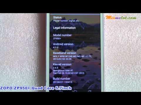 ZOPO ZP950+ Quad Core 5.7inch Android 4.1 3G Smartphone