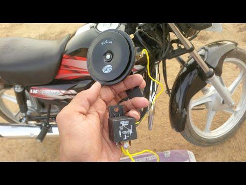 Double horn in bike with Relay (रिले की सहायता on