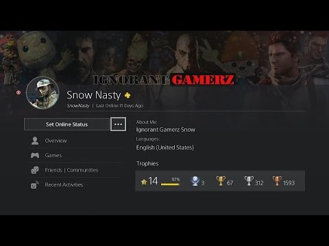 How to change your PS4 User Profile Background IMAGE | via PS4 4.0 Update!