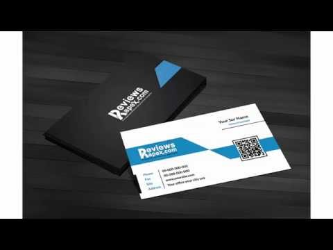 Free Download Black & Blue Corporate Business Card Template with QR Code