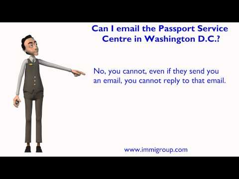 Can I email the Passport Service Centre in Washington D.C.?