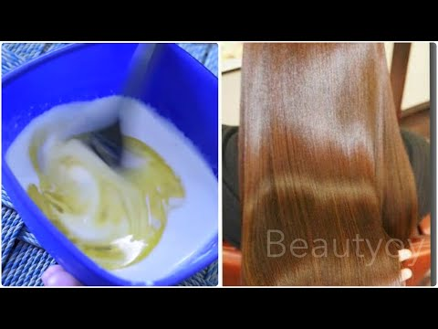 How to Straight Hair at Home with Simple ingredients | Shiny & Grow Long Hair Faster