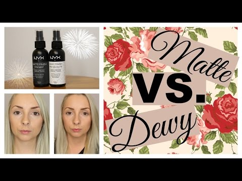 Matte VS Dewy Makeup Setting Sprays!!