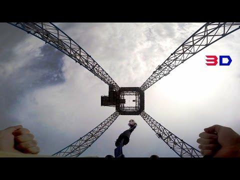 Sky Tower 3D on-ride HD POV Tivoli Friheden