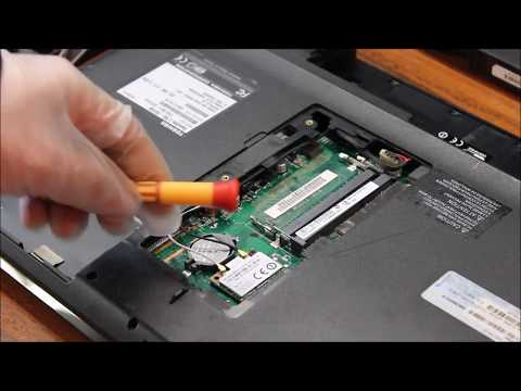 Toshiba Satellite L755 S5158 Hard Drive, Memory, Motherboard Battery Replacement