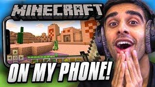 MINECRAFT on my PHONE!