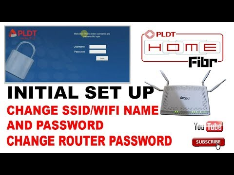 PLDT Home fibr change SSID and Password - Initial setup