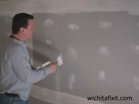 Drywall Installation HowTo Cover Screws/Nails with Drywall Mud