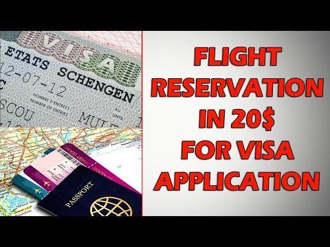 Get Flight Reservation Online In 20$ For Visa Application