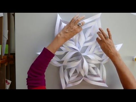 How to Make a Paper 3D Snowflake Ornament or Decoration