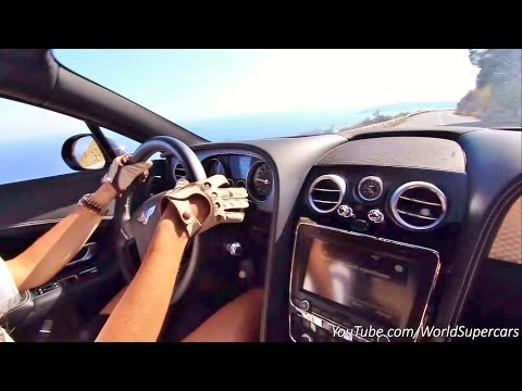 Crazy Girl Racing Her Bentley on Mountain Roads
