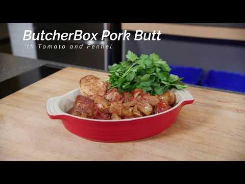 Italian Pork Butt with Fennel and Tomato (ButcherBox Pork Butt | Sear; Slow Cook)