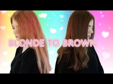 BLONDE/ PINK TO BROWN TRANSFORMATION ♡ hxanou