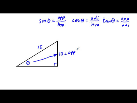 Find an Angle in any Right Triangle Using Inverse Sine, Cosine, or Tangent