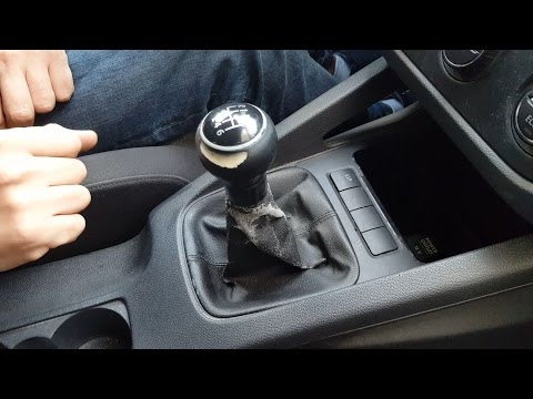 How to remove gear shift knob gaitor boot VW Golf  Mk5, Jetta in 5 simple steps