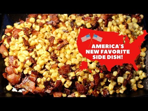 Bacon-Fried Blackstone Griddle Corn