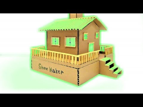 How to Make Coin Bank House and Secret Case from Cardboard