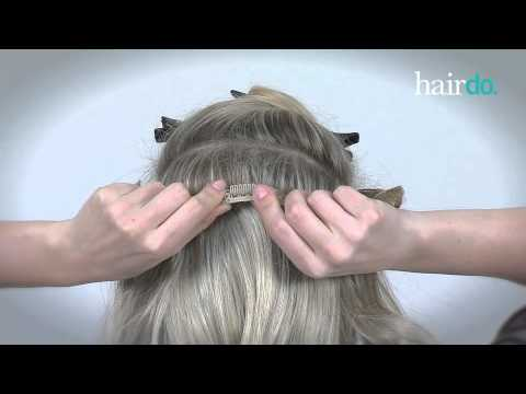 How to Put on a 1 Piece Hair Extension