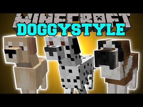 Minecraft: DOGGYSTYLE MOD (DOG BREEDS, DOG HOUSE, & MORE!) Mod Showcase