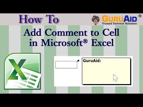 How to Add Comment to Cell in Microsoft® Excel - GuruAid