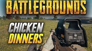 Battlegrounds: CHICKEN DINNERS LIVE FROM UPLOAD EVENT! (PlayerUnknown
