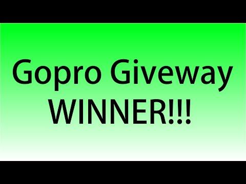 Gopro Giveaway winner!!!