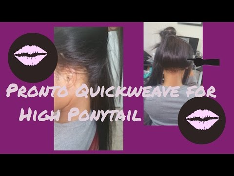 Part 3 Pronto Quickweave  Tutorial For High Ponytail!! 👍🏽😍