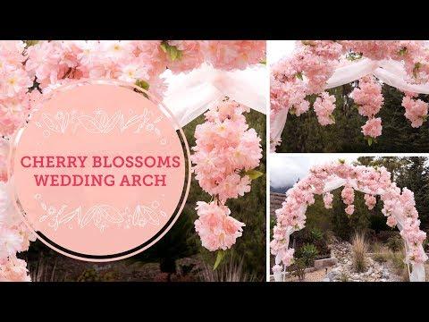 Spring Cherry Blossoms DIY Wedding Arch | BalsaCircle.com