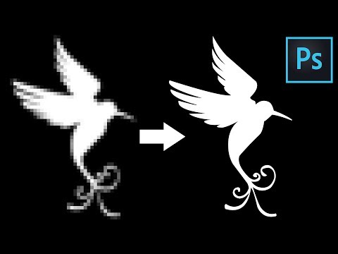 Photoshop Tutorial   How to Convert Raster Image to Vector Image in Photoshop