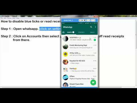 HOW TO HIDE BLUE TICKS OR READ RECEIPTS IN WHATSAPP