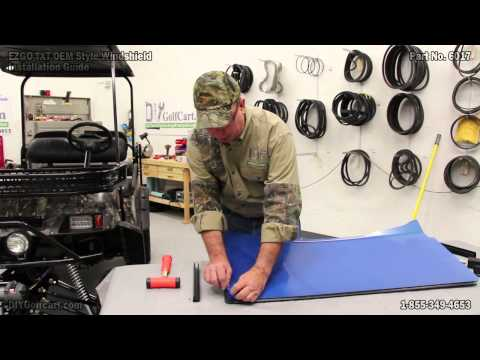 EZGO TXT Tinted Windshield | Folding Golf Cart Windscreen | How to Install