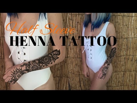 Half Sleeve Henna Tattoo | How to DIY Temporary Tattoo | Stella
