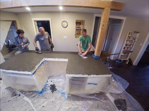 Kitchen Pour in Place Concrete Countertops