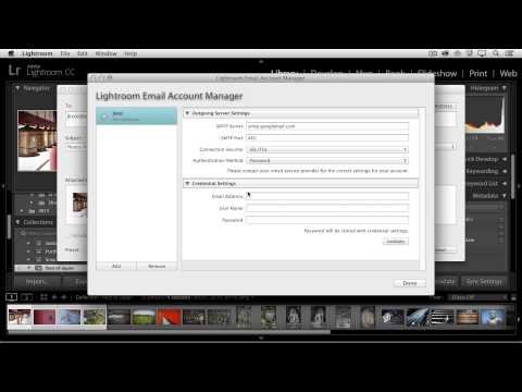 Emailing Photos from Lightroom