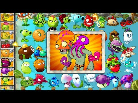 Plants vs Zombies 2 Max Power Plants vs Octo Zombie - Hard Levels in PVZ 2 Gameplay