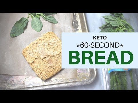 *60-Second KETO Bread*   Pesto Toast   #ketogenicdiet   #lowcarb   #carbquick   #CarbQuik & Flax