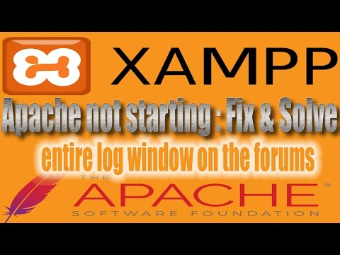 Apache cant starting In XAMPP windows 7 8 10 | entire log window on the forums | solved 100 working