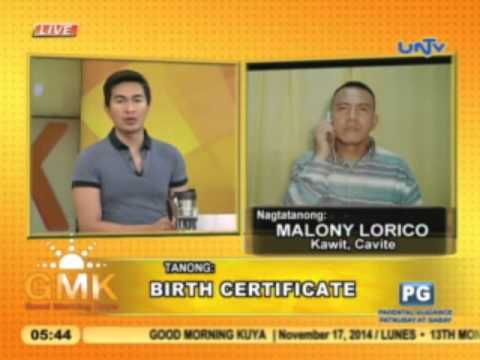 Correction to gender entry to birth certificate