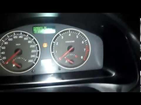 How to reset regular service message Volvo S40