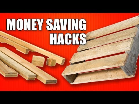 Money Saving Hacks for Woodworking - Using Reclaimed Pallet Wood