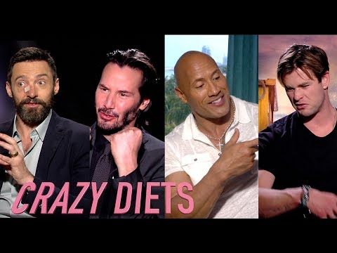 Celebs explain (CRAZY) Body Transformations, Diets - Pain and Gain, Work Outs for Movies