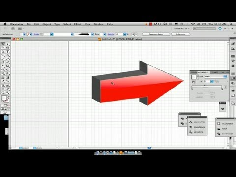 How to Create a 3-D Arrow With a Reflection in Illustrator : Using Adobe Illustrator