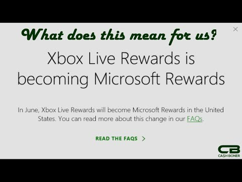 Xbox Live Rewards is Turning to Microsoft Rewards - Transition Overview
