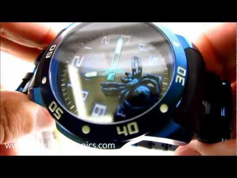 Invicta Watch 10296 Sea Spider Blue Dial Floating Spider Polyurethane