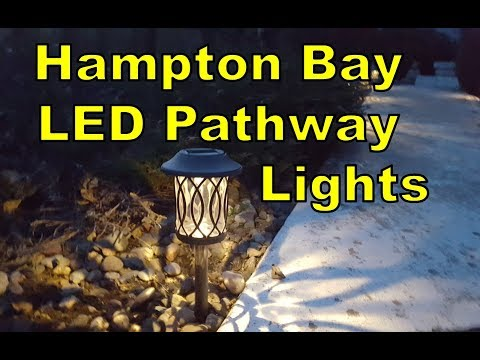 Hampton Bay Solar LED Pathway Lights (Home Depot)