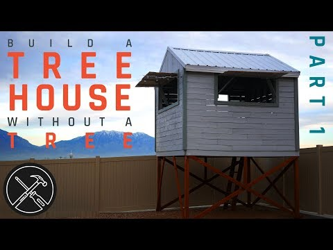 How to Build a Treeless Tree House - Part 1 - Footings and Deck