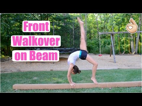 How to Do A Front Walkover on Beam! Everyday Gymnastics