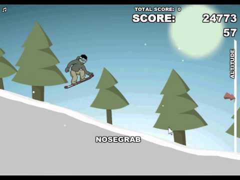 How To Get Alot Of Points in Downhil Snowboard 2